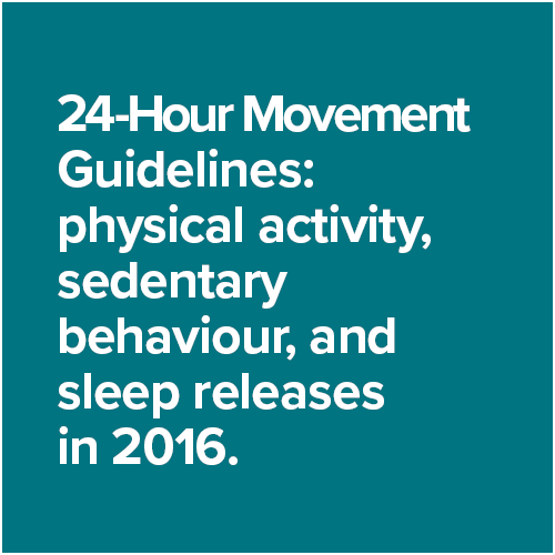 24-Hour Movement Guidelines: physical activity, sedentary behaviour, and sleep releases in 2016.