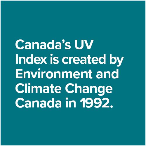 Canada's UV Index is created by Environment and Climate Change Canada in 1992.