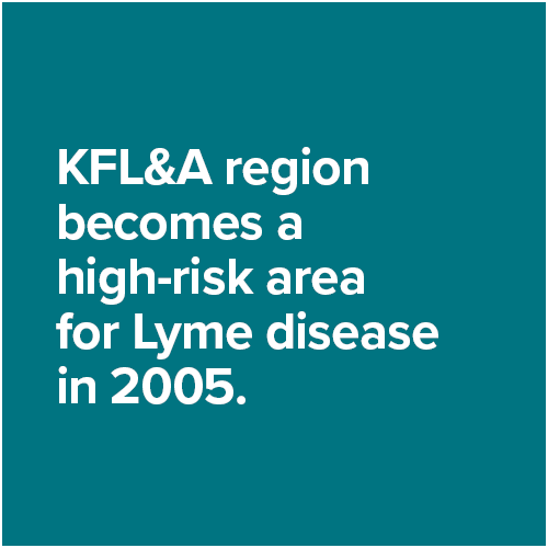 KFL&A region becomes a high-risk area for Lyme disease in 2005.