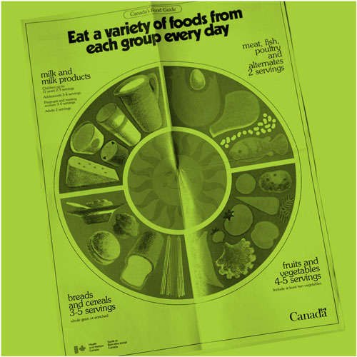 Canada's Food Guide: Eat a variety of foods from each group every day