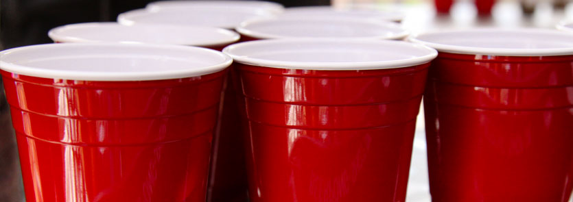 red cups on a table